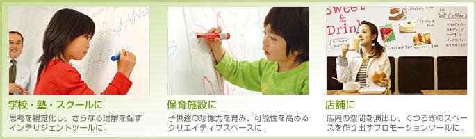 学校・塾・幼稚園・会議室などに最適。膨らむ想像力!